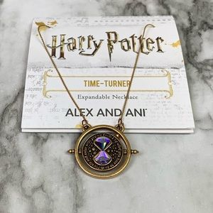 NWT Alex & Ani Harry Potter Time Turner Necklace